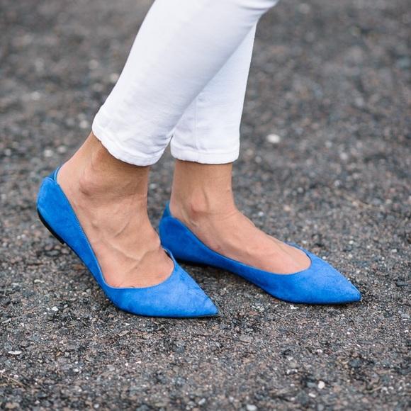 11af99b2e857 Sam Edelman Rae Blue Suede Pointed Flats 8M. M 5b6ca6755fef370f9729ed5e